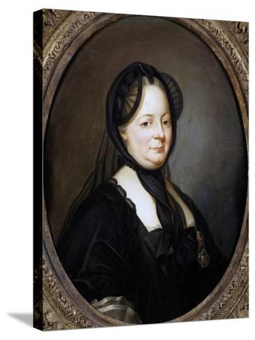 Portrait of Empress Maria Theresa of Austria--Stretched Canvas Print
