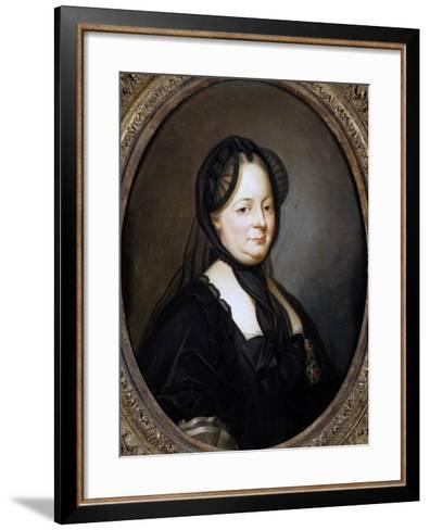 Portrait of Empress Maria Theresa of Austria--Framed Art Print