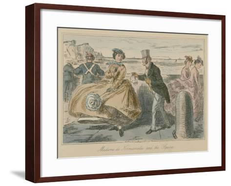 Madame De Normanville and the Squire-John Leech-Framed Art Print