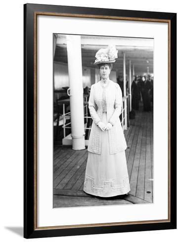 Queen Mary on Board the H.M.S. Medina, 1911--Framed Art Print