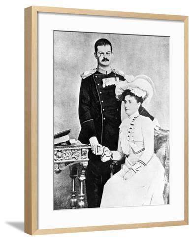 King Alexander and Queen Draga of Serbia, C.1900--Framed Art Print