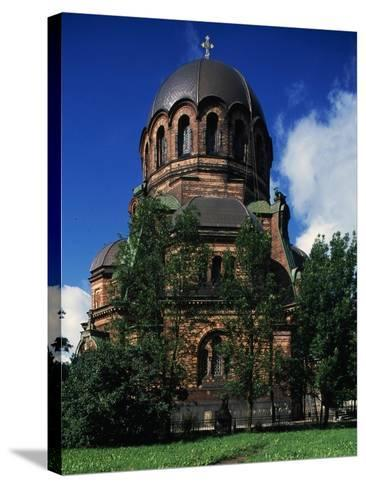 Russian-Orthodox Voskresensky Cathedral--Stretched Canvas Print