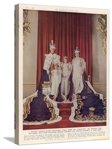 King George VI--Stretched Canvas Print