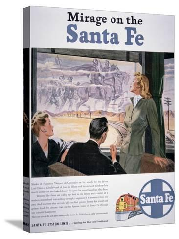 Mirage on the Santa Fe', 1946--Stretched Canvas Print