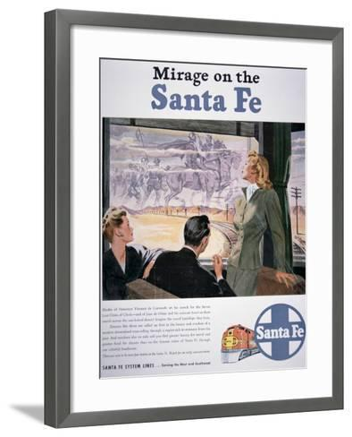 Mirage on the Santa Fe', 1946--Framed Art Print