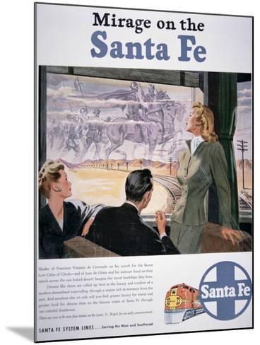 Mirage on the Santa Fe', 1946--Mounted Giclee Print