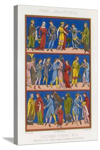 Various Costumes of 12th and 13th Century France--Stretched Canvas Print