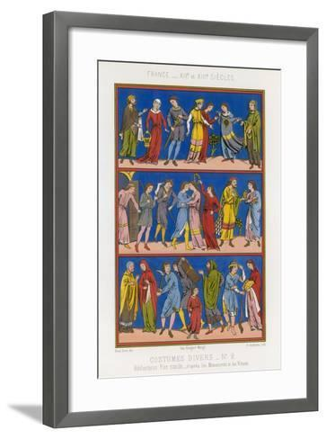 Various Costumes of 12th and 13th Century France--Framed Art Print
