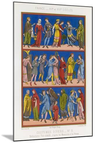 Various Costumes of 12th and 13th Century France--Mounted Giclee Print