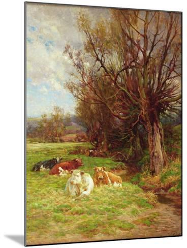 Cattle Grazing-Charles James Adams-Mounted Giclee Print