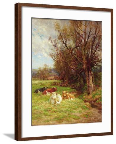 Cattle Grazing-Charles James Adams-Framed Art Print