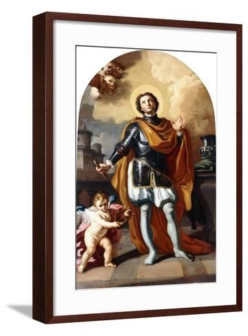 Saint Louis of France-Francesco Solimena-Framed Art Print