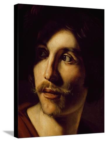 Portrait of Flutist-Nicolas Tournier-Stretched Canvas Print