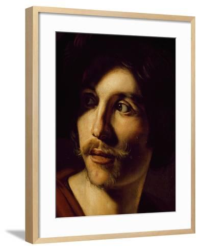 Portrait of Flutist-Nicolas Tournier-Framed Art Print