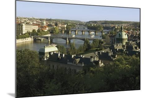 Prague Bridges and Straka Academy, Czech Republic--Mounted Photographic Print