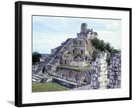 Pyramid in Edzna--Framed Art Print