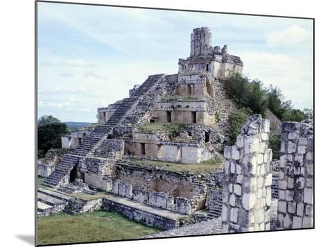Pyramid in Edzna--Mounted Giclee Print