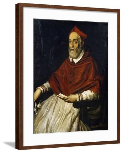 Portrait of Alessandro Farnese Younger--Framed Art Print