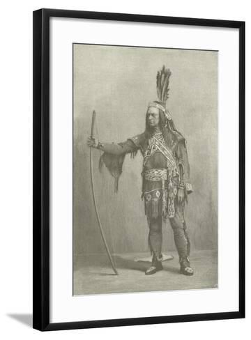 Edwin Forrest, American Actor, as Metamora--Framed Art Print
