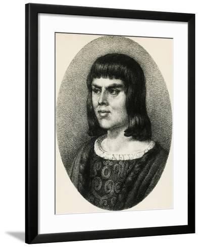 Portrait of Alain Chartier--Framed Art Print