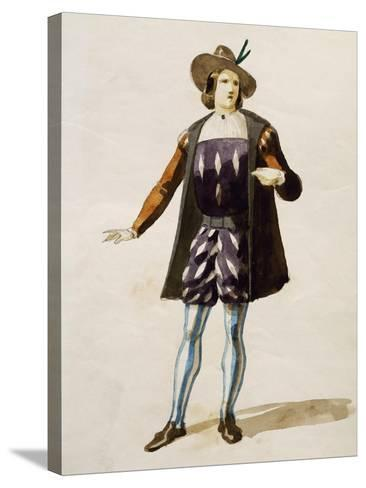 Costume Sketch for Elvino in La Sonnambula--Stretched Canvas Print