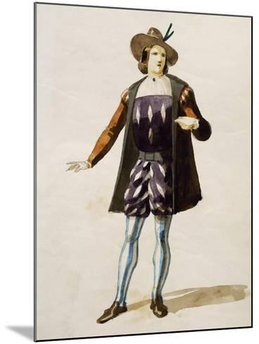 Costume Sketch for Elvino in La Sonnambula--Mounted Giclee Print