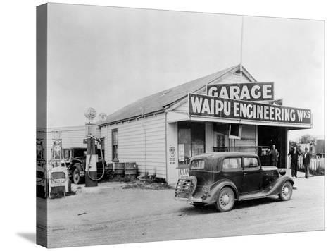 Waipu Engineering and Garage--Stretched Canvas Print