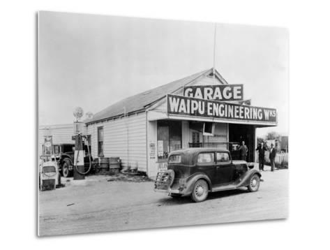 Waipu Engineering and Garage--Metal Print