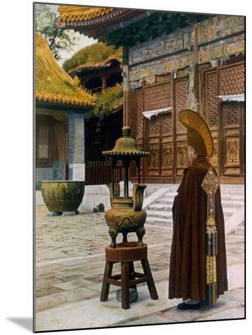 Prayer Hour at the Lama Temple, Peking, 1927--Mounted Giclee Print