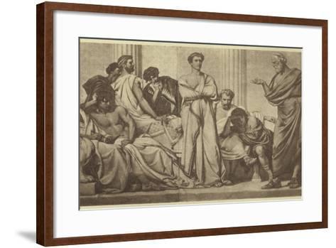 Mental Education of Greek Youth--Framed Art Print