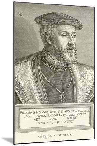 Charles V of Spain--Mounted Giclee Print