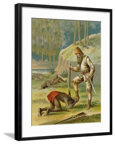 Friday's Life Is Saved--Framed Art Print