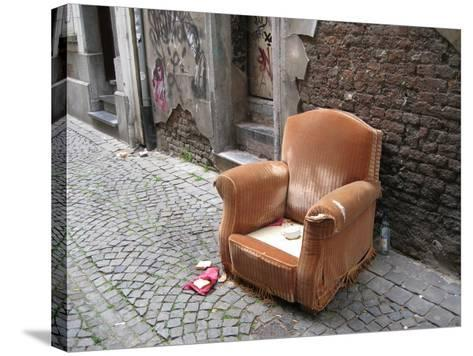Abandoned Chair--Stretched Canvas Print