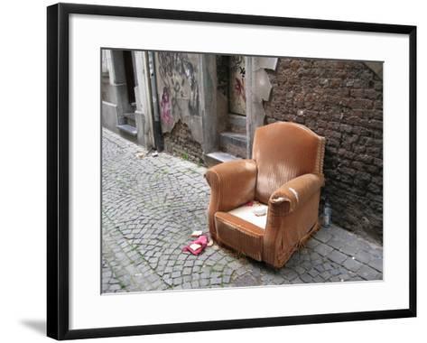 Abandoned Chair--Framed Art Print