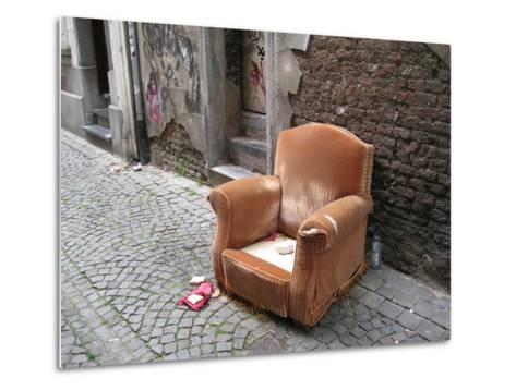 Abandoned Chair--Metal Print
