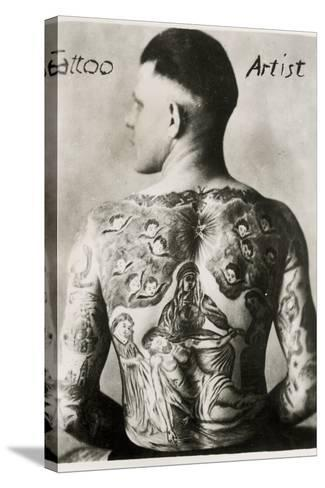 Tattooed Man, New York--Stretched Canvas Print