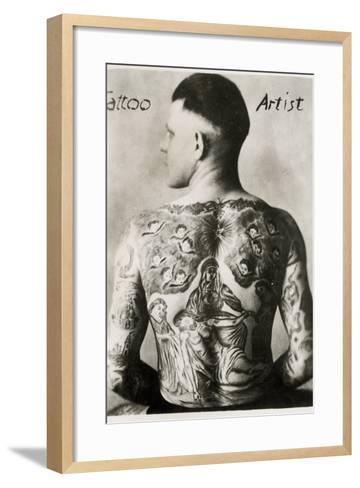 Tattooed Man, New York--Framed Art Print