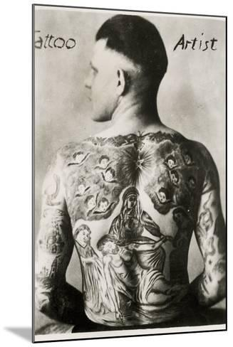 Tattooed Man, New York--Mounted Photographic Print