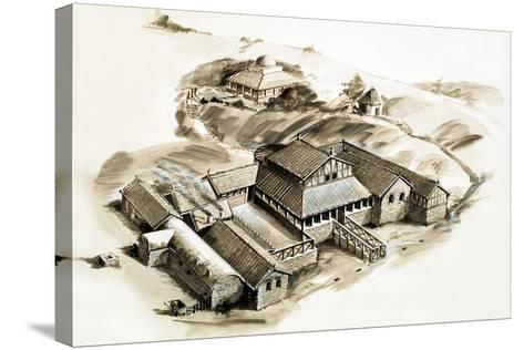 Lullingstone Villa, a Roman Villa--Stretched Canvas Print
