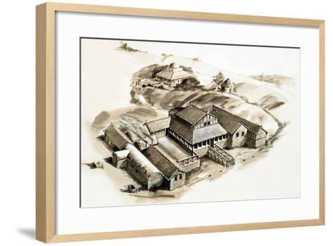 Lullingstone Villa, a Roman Villa--Framed Art Print