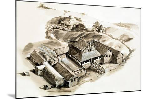 Lullingstone Villa, a Roman Villa--Mounted Giclee Print