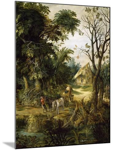 Landscape with Peasants-Kerinex Alexander-Mounted Giclee Print