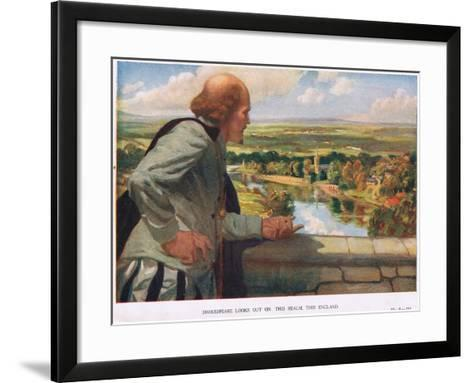 Shakespeare Looks Out on This Realm, This England--Framed Art Print