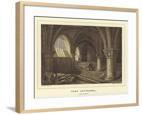 York Cathedral, the Crypt--Framed Art Print