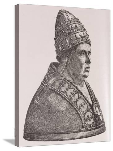 Bust of Pope Alexander VI--Stretched Canvas Print