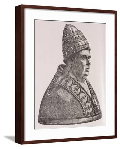 Bust of Pope Alexander VI--Framed Art Print