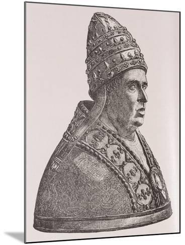 Bust of Pope Alexander VI--Mounted Giclee Print