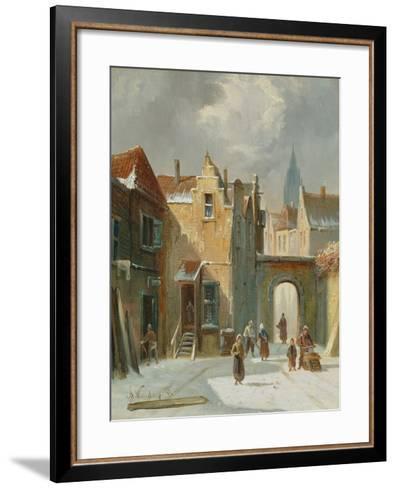 Winter Street Scene-Anthonie Waldorp-Framed Art Print