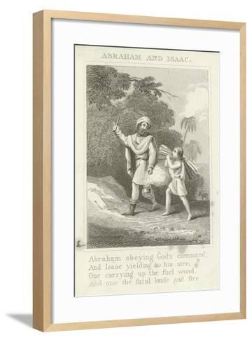 Abraham and Isaac--Framed Art Print