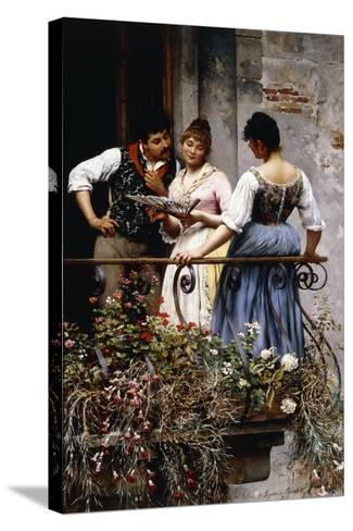 On the Balcony, 1889-Eugen Von Blaas-Stretched Canvas Print